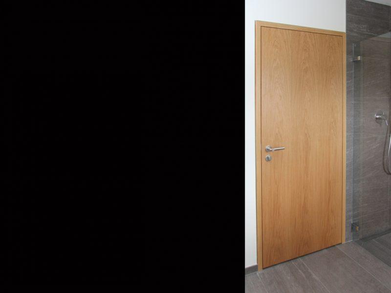 Eine Blockfuttertüre von Späni AG Schreinerei und Innenausbau, eingebaut in Morschach